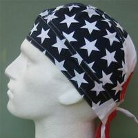 USA Stars and Stripes Ready Tie Bandana Red White Blue Du Rag Sun Hat Zandanna#1