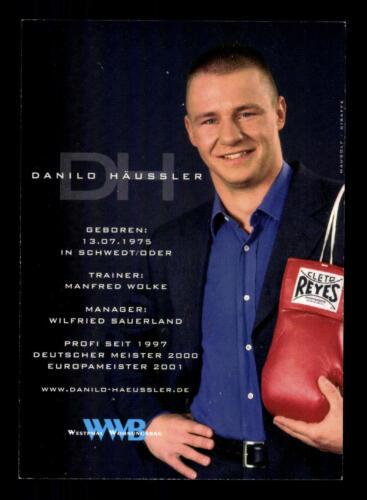 Daniel Haussler Autogrammkarte Original Signiert Boxen A 167772