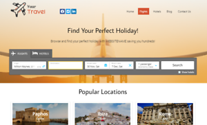 Travel-Website-Earn-Hundreds-Per-Sale-Free-Domain-amp-Easy-to-Manage