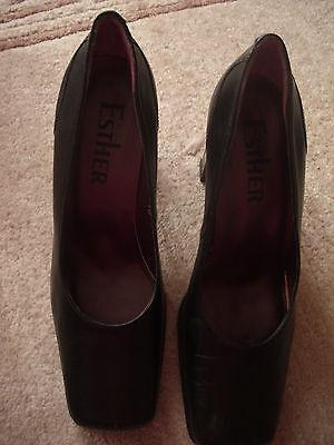 Schuhe, Pumps, Echtleder, Echtes Leder, Lackleder, Gr. 40, Esther, neu!