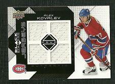 ALEX KOVALEV 08-09 UPPER DECK BLACK DIAMOND GAME WORN JERSEY MONTREAL CANADIENS