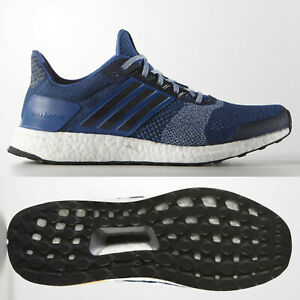 bf6ee8aad adidas Ultra Boost ST Mens Structured Running Shoes Blue Navy ~ SIZE ...