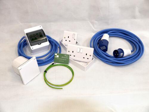 240V Mains Electric Hook Up Installation Kit T2//T4//T5 Camper van 10M Site Lead