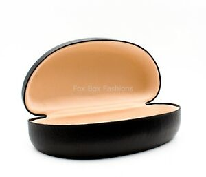 NEW-Clam-Shell-Hard-Case-for-Sunglasses-Black-Large-Size