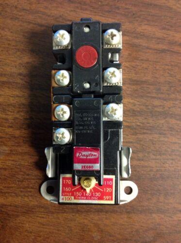 Dayton Elec. Water Heater Thermostat & Limit 2E680