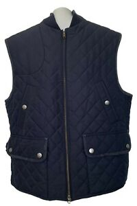 RALPH-LAUREN-PURPLE-LABEL-MEN-039-S-NAVY-QUILTED-VEST-XL-1450