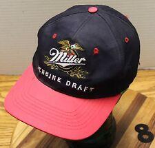 NICE BLACK & RED MILLER GENUINE DRAFT BEERSTORE HAT SNAPBACK IN VERY GOOD COND