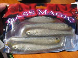 5 Bass Magic Soft Plastic 5 12 Swimbait Fishing Lures Natural