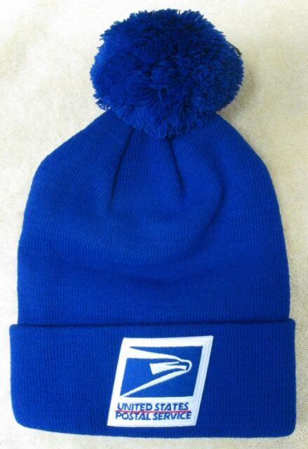 Buy USPS Postal Service Royal Blue Beanie Hat cap With Pom online  5b75b77f3b9