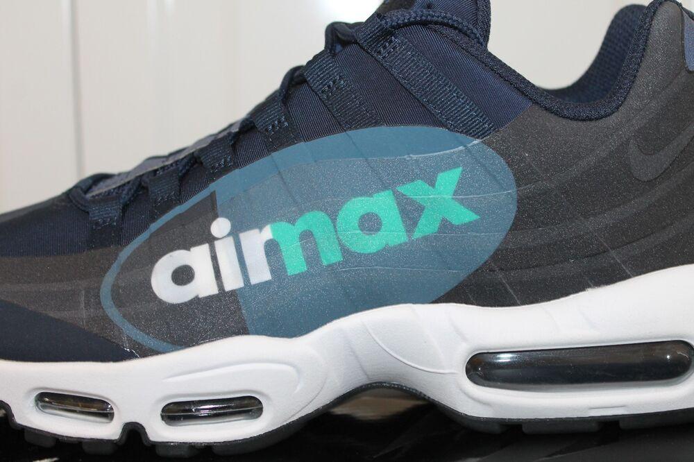 Hommes, S NIKE AIR MAX MAX MAX 95 NS GPX Bleu & ardoise Baskets AJ7183-400 Entièrement neuf dans sa boîte 75- 539c5c