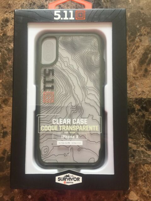 on sale 952aa b30a5 5.11 Tactical Survivor Griffin Clear Case Ultra Slim for iPhone X