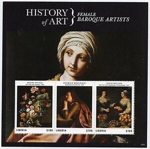 Motivated Liberia Art/paintings/baroque/female.. aa-3 Ms Mnh** Consumers First