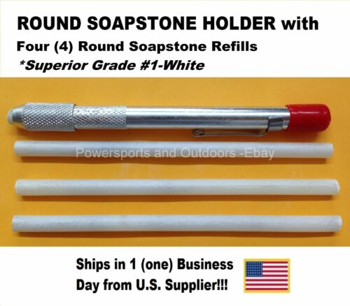 US Supplier ROUND SOAPSTONE HOLDER WITH 4 REFILLS Ships in One Day!