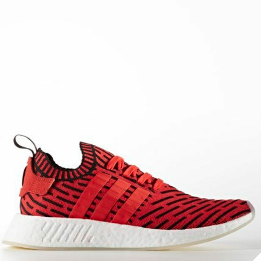 Adidas Original NMD R2 PK Runner shoes Running Red Red Red Red White BB2910 SZ 4-13 148aa1