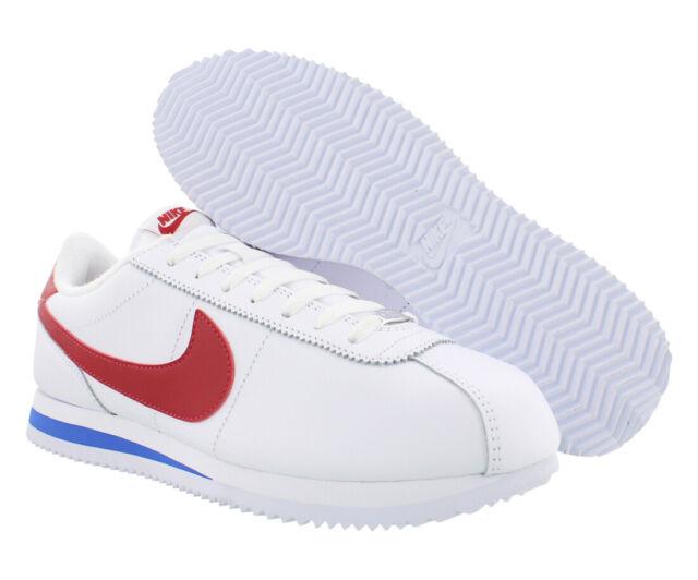 Nike Cortez Basic Leather OG Mens Shoes Size 8, Color: White/Varsity Red