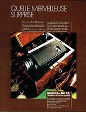 Publicité Advertising 067  1971  caméra Bolex 233 Compact