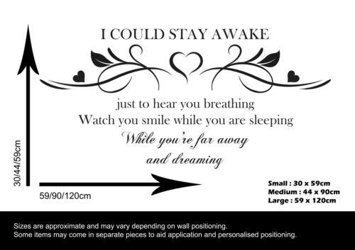 DECAL BEDROOM VINYL BREATHING SONG LYRICS WALL STICKER AEROSMITH