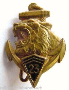 insigne-boutonniere-23-RIC-1939-Infanterie-Coloniale-peint-miniature-original