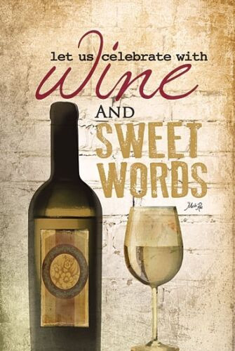 Framed or Plaque By Marla Rae MA243-R Art Print Wine and Sweet Words