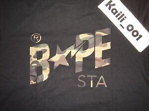 262451bacb22 A Bathing Ape Bape 1st Camo BAPESTA Green T Shirt Size XL tee Black ...