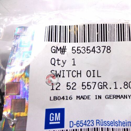 55354378 GENUINE NEW VAUXHALL OIL PRESSURE SWITCH