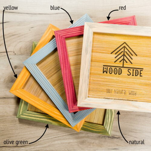 Rustic Wooden Picture Frames Natural Solid Distressed Wood Wall// Tabletop