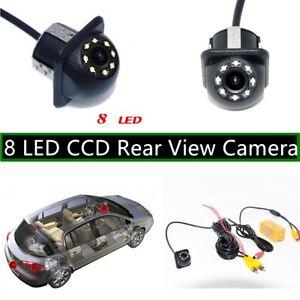 New-8-LED-CCD-Car-Rear-View-Camera-Night-Vision-Revers-Backup-Parking-Camera