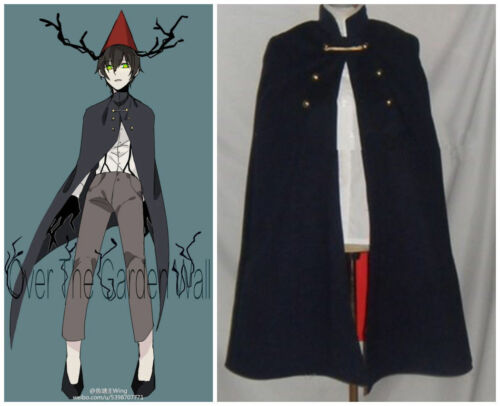 Hot! Over the Garden Wall Wirt Cosplay Costume Cloak with Hat Outfit FF.1629