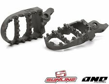 SUNLINE SL1 ONE INDUSTRIES ARCH STAINLESS FOOTPEGS to fit SUZUKI RM 125 250 /DRZ