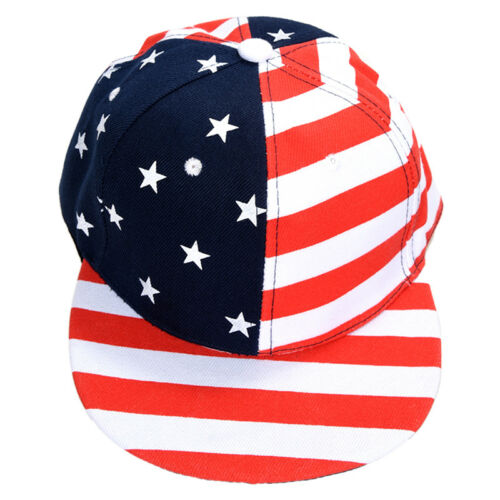 Red Casual USA Flag Print Hip-hop Cap For Men S2F8