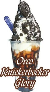 ICE CREAM KNICKERBOCKER GLORY COFFEE STICKER DECAL CUT