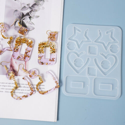 Resin Crystal Epoxy Mold Earrings Pendant Jewelry DIY Casting Silicone Mould
