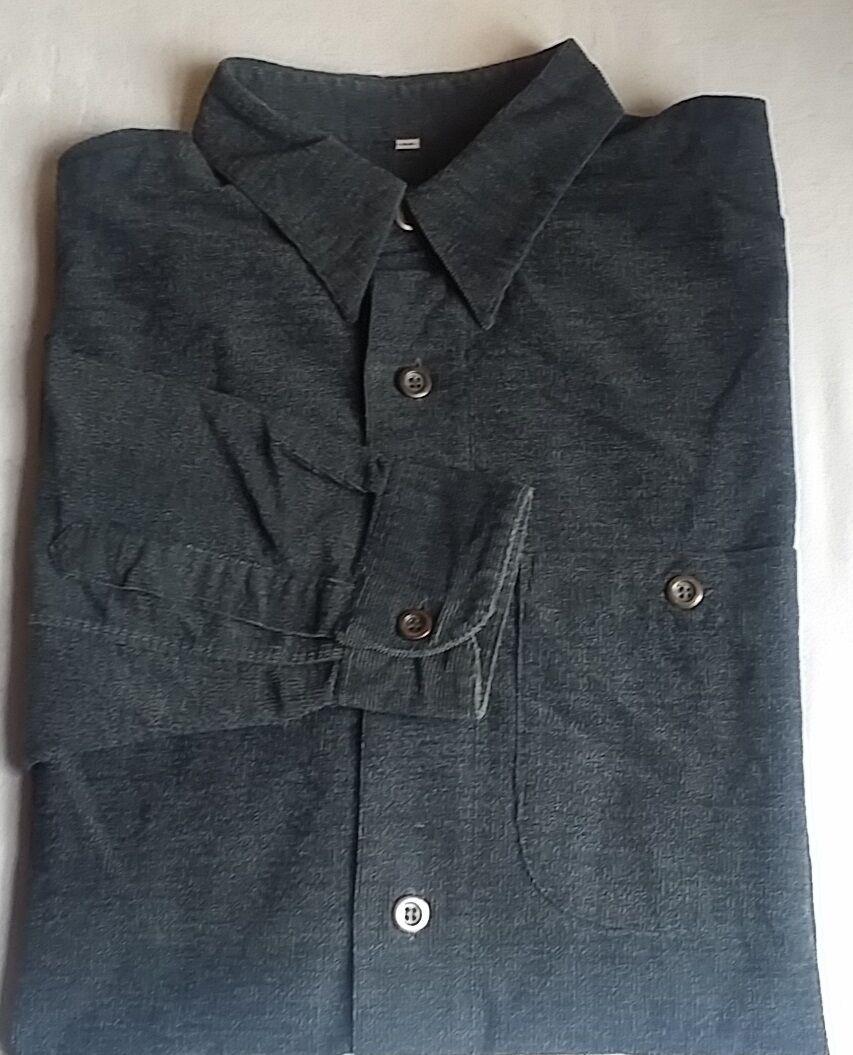 2x SIGNUM Designerhemd Hemd Langarm KW 38-40 Gr.M blue   black BW 65 cm
