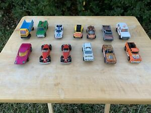 Rare-Vintage-Used-Hot-Wheels-And-Matchbox-Lot-Of-13-Read-Description