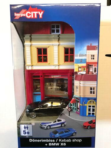 modello 1:64 TACCHINO SNACK in barattolo con BMW x6 Herpa City 800068