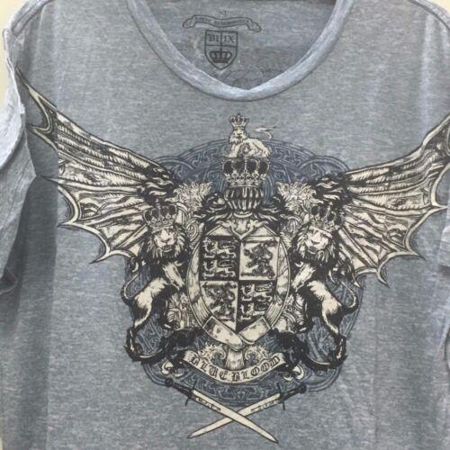 NWT Royal Underground Men short sleeve blue burnout Sz s t