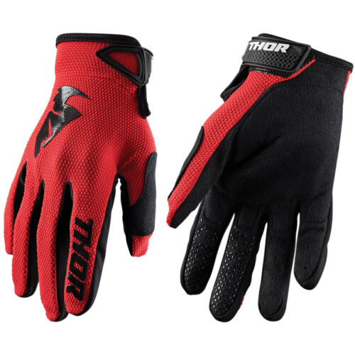 2019 THOR SECTOR MOTOCROSS MX BIKE GLOVES ADULT RED MOUNTAIN BIKE MTB