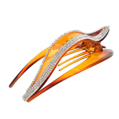 Womens Crystal Hair Clips Claws Grips Non-Slip Hairpin Styling Tool Headwear
