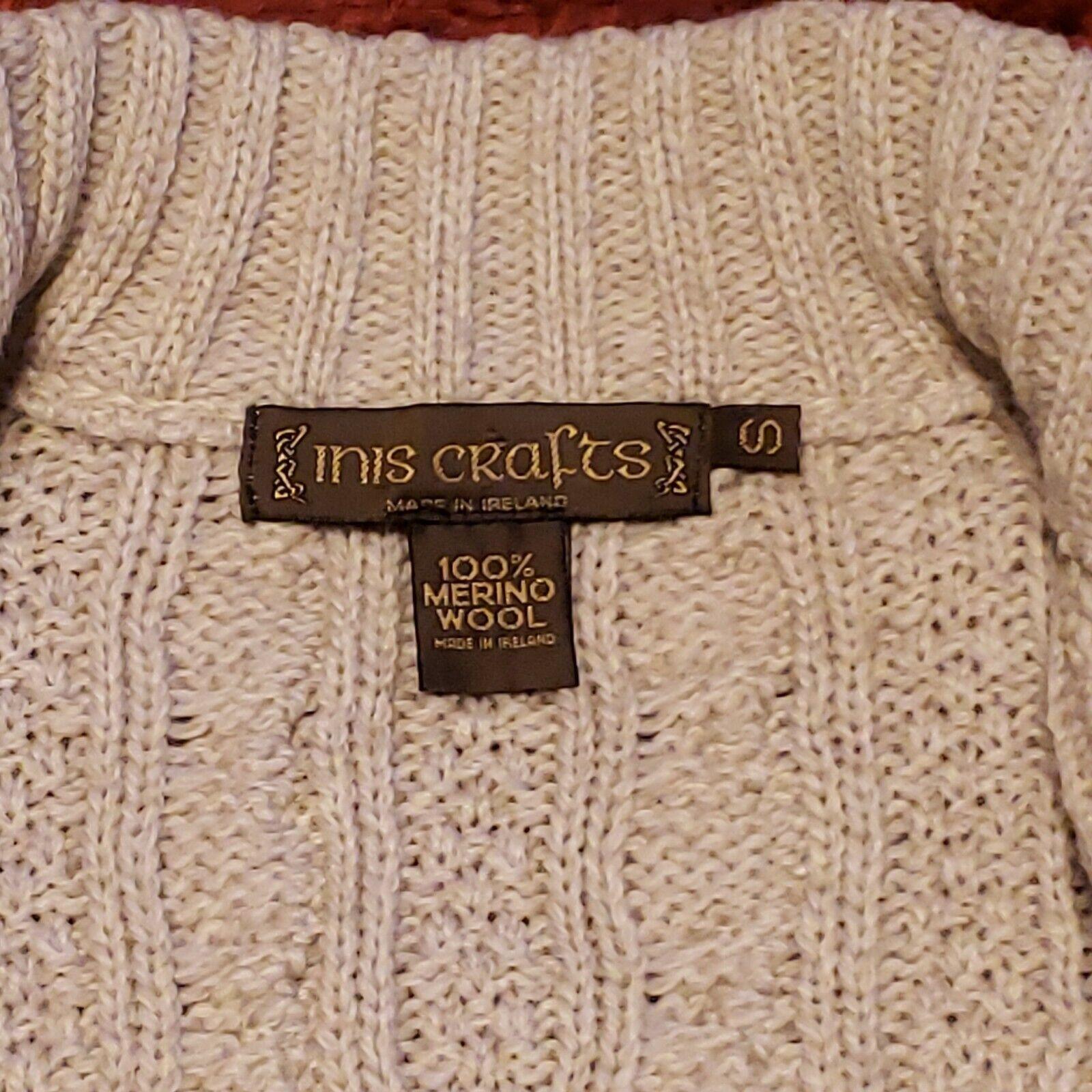 INIS CRAFTS Ireland Womens Small 100% Merino Wool… - image 4