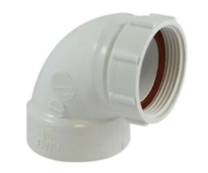 "Canplas 212291AW 90 Degree PVC Trap Sink Strainer Adapter DWV 1-1/2"""