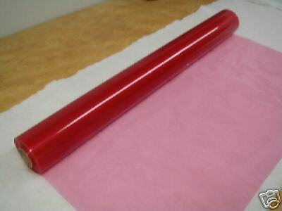 "CLEAR RED PLASTIC-VINYL    36/"" x  5 yds"