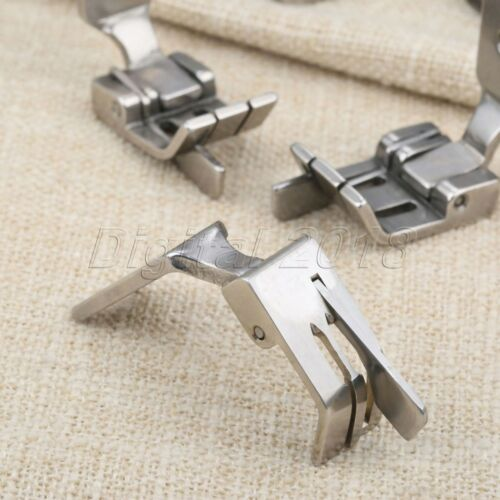 For Industrial Double Needle Sewing Machine 6 Size Presser Foot With Left Cutter