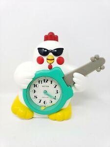 Vintage Rhythm Japan Rock And Roll Chicken Quartz Alarm Clock Not Working