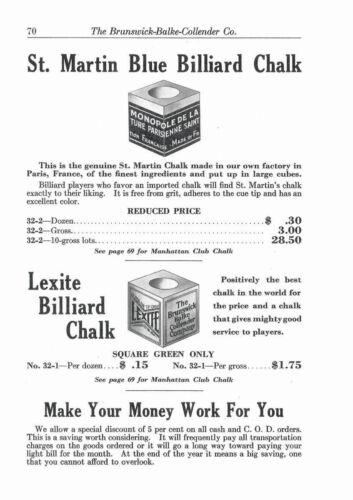 Repro of 1928 Brunswick BBC Billiard /& Bowling Supply Catalog