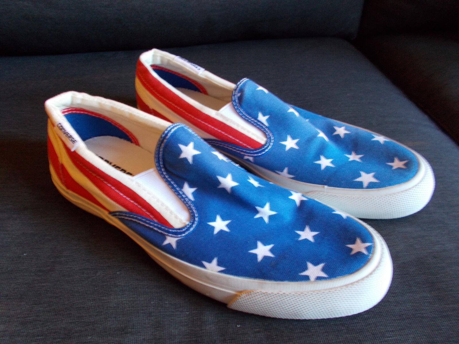 Converse Stars And Stripes Low Top Slip On Trainers UK7.5 EU 41 Blau Mix BNWoT