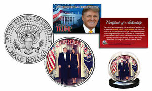 trump and melania christmas coin