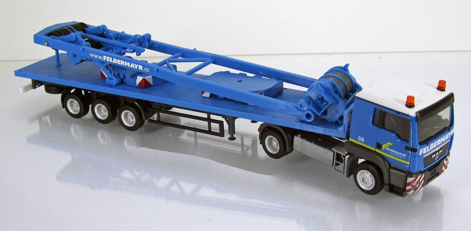 Herpa 303781 Man tgs l escáner plano con sa-Bock para Liebherr LR ATCI camión 1 87