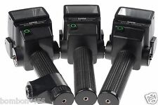 "X3 SUNPAK 522 FLASHES, 1 BRACE. AS-IS - THEY ALL WORK ""BUT"" NOT AT 100% - READ!"