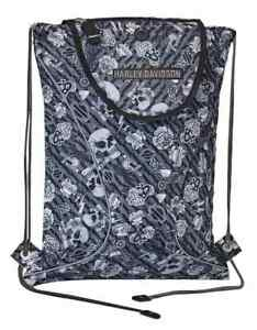 Harley-Davidso<wbr/>n Gray Tattoo Sling Backpack, Sport Cloth 99667-GRAY TATTOO