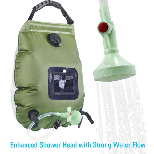 20L Solar Power Shower Camping Water Portable Sun Compact Heated Outdoor